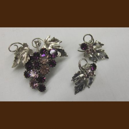 Grapevine Earrings and Pin